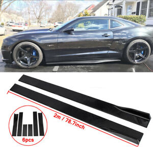 78.7'' Side Skirts Extention Add-on Body Kit For 2010-2015 Chevy Camaro LT LS SS