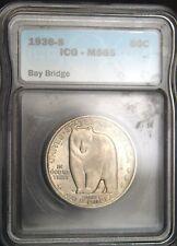 1936-S Bay Bridge Comm. Half  Dollar ICG MS 65 (D0522)