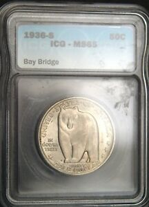 1936-S Bay Bridge Comm. Half  Dollar ICG MS 65 (D0522)