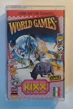 WORLD GAMES - KIXX version complete - Commodore 64 (C64 C128) - TESTED See proof