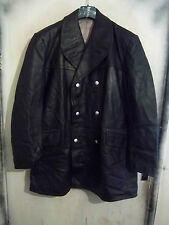 VINTAGEPOST WW2 GERMAN LEATHER POLICE OFFICERS JACKET SIZE XL PEA COAT