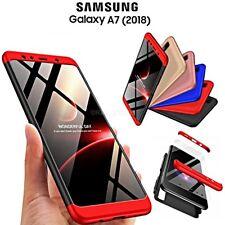 COVER per Samsung Galaxy A7 2018 CUSTODIA Fronte Retro 360° ORIGINALE ARMOR CASE