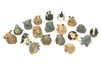 Rare collection handpainted Tcc Pewter the Thimble zoo animals