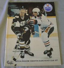 1978-79  WHA Edmonton Oilers vs New England Whalers Hockey Program