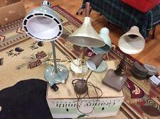 5 Industrial Steampunk Desk Lights Dazor Eagle Gooseneck Desk PARTS OR RESTORE