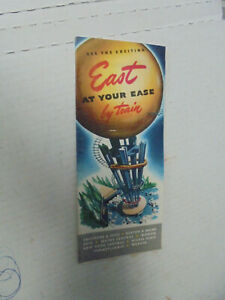 EASTERN VACATION BY TRAIN BROCHUIRE  1948