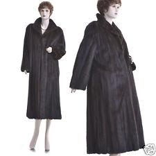 Mint! Petite! Fashionable Genuine Mahogany Female Mink Fur Full-Length Coat