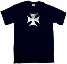 Distressed Style Maltese Cross Logo Men's Shirt Pick Size SM - 6XL & Color
