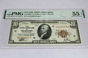 1929 PHILADELPHIA NATIONAL BANKNOTE  PMG AU55 EPQ READY TO SHIP