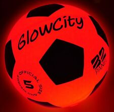 Glowcity Light Up Led Soccer Ball Blazing Red Edition|Glows In The Dark With Hi-