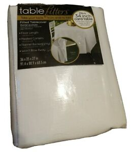 """Table fitters Fitted tablecloth Floor length Fits 34"""" standard card table New"""