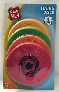 Play Day Flying Discs Dog Toy Beach Catch Play Interaction Activities 4 Frisbee
