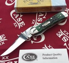 Case XX RussLock Knife Locking Clip Blade Pocket Worn Bermuda Green Bone 9743