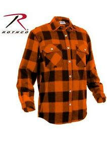 Worker Shirt Flannellhemd Wood Chopper Buffalo Heavyweight Flannel Orange