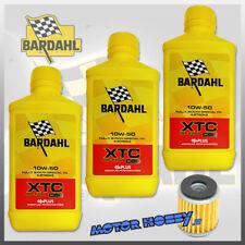 3 LITRI OLIO BARDAHL SINTETICO XTC 10W50 POLAR PLUS OFF ROAD + FILTRO HONDA CRF