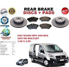 FOR FIAT SCUDO 1.6 2.0 MPV BOX VAN 2007-ON REAR BRAKE DISCS SET + BRAKE PADS KIT