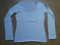 ESPRIT Fein Strick Rundhals Pullover weiß Größe S (passt auch M 38)
