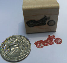 P24  Miniature motorcycle rubber stamp WM 0.4x0.9""