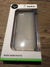 Genuine Belkin iPhone 5c SLIM Micra Sheer Matte Custodia/Coperchio Trasparente f8w374b1c00