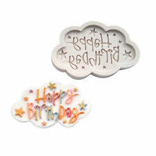 Silicone Happy Birthday Design Sugar Chocolate Mold Mould Cake Fondant Baking