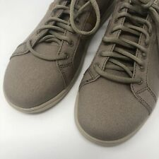 Crocs Mens Size 8 Torino Lace Shoes Khaki Cobblestone Dual Comfort Sneakers New