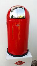 WESCO PUSHBOY 50 LTR USA TRASH CAN DUSTBIN KITCHEN BIN OFFICE BIN DESIGN RED