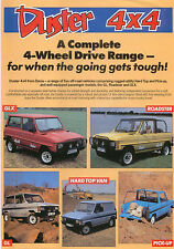 Dacia Duster 4x4 and Shifter 1987 Original UK Sales Sheet