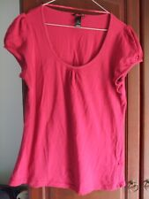 Ladies size L H&M red top t shirt wine