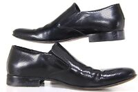 Mikekonos Vero Cuoio  Black Slip On Shoes Made In Italy Size 12 Men's
