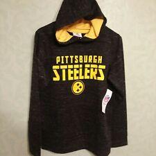 NWT Pittsburgh Steelers Hoodie Youth XXL-(18) NFL Apparel Boys Black