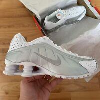 Nike Shox R4 (GS) Trainers Size UK 5.5 EUR 38.5 White BQ4000 100