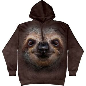 The Mountain Unisex Adult Sloth Face Animal Hoodie