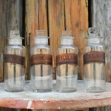 Antique Victorian Apothecary Bottles Chemist Jars Hand Blown Pontil Scar Four C