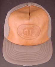 Vtg Grain Trade Australia GTA Hat-Stamped Leather Front-Buckle Back-All Foam-Frm