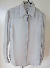 100% Silk Shirt Anne Klein Gray Button-down NWT Size M Vintage