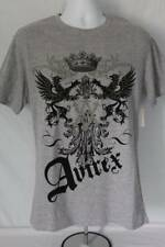 NEW Mens Graphic T-Shirt Size Small Gray Avirex Brand Tee Eagles Crest Crown