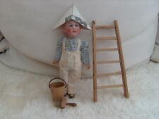 Antica PORCELLANA testa bambola come imbianchino e accessori