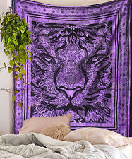 Indian Hippie Tiger Tapestry Wall Hanging Queen Mandala Cotton Bedspread Throw