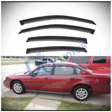 4pcs Smoke Tint Sun/Rain Guard Vent Shade Window Visors Fit 00-05 Chevy Impala