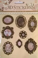8 3D Filigree Photo Frame Stickers Decoration Card Making Scrapbooking Journals