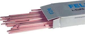 Felder Kupfer Hartlot 1kg DIN8513 Legierung L-CuP6 Vierkantstäbe 500mm Kupferlot