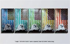 Modern Original Metal Wall Art Shining Abstract Indoor Outdoor Decor by Artist