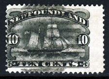 NEWFOUNDLAND CANADA Queen Victoria 1887 10 Cents Black SG 54 VFU