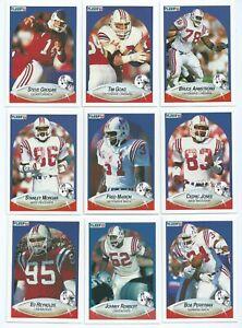 NEW ENGLAND PATRIOTS 12 x Fleer 1990 NFL American Football Trading Cards