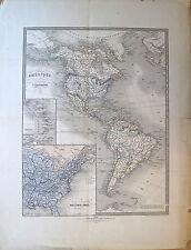 Carte de l'Amérique, Canada au Golfe du Mexique