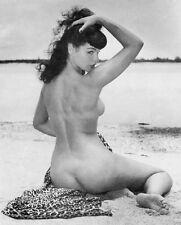"""Bettie Page Vintage Pinup XL CANVAS PRINT 24""""X 36"""" Black & White photo B"""