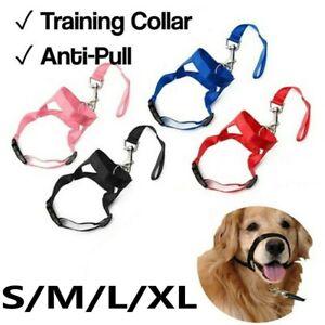 Nylon Dog Training Halter Head Harness Stop Pulling Traction Walking Anti-bite