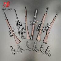 "6pcs 1/6 4D 98K RPG SVT-40 M200 G43 Rifle Assembly Gun Model Toy Fit 12"" Figure"