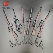 6pcs 1/6 4D 98K RPG SVT-40 M200 G43 Rifle Assembly Gun Model Toy Fit 12
