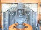 Wedgwood Black Basalt of Minerva Bust on Circular Socle Pedestal Figurine c.1850
